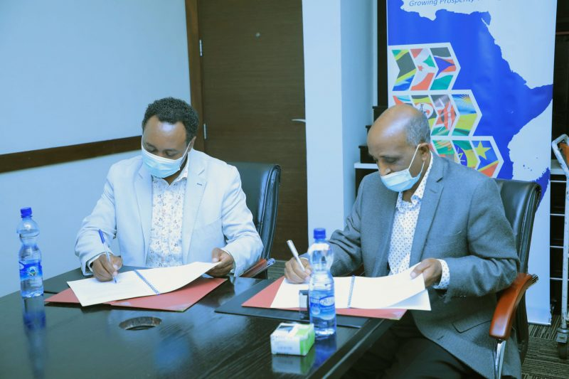 EHPEA and Trade Mark East Africa signed a Memorandum of Understanding (MoU) to collaborate in advancing and ensuring export trade in Ethiopia