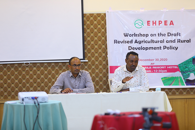 A consultative meeting on the draft Agriculture and Rural Development Policy held at Adama, Haile Resort Hotel