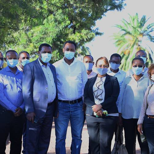 Officials and officers of the Ministry of Foreign Affairs have visited Red Fox Ethiopia and Joytech farms