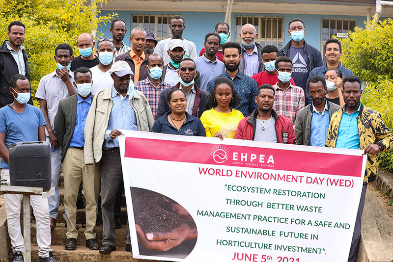 EHPEA organized an experience sharing visit held on April 6/2021, at Ethio Agri CEFT Plc.